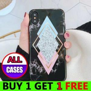 NEW iPhone 7/8/Plus Geometric Marble Case